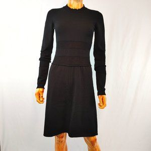 ALESSANDRO DELL'ACQUA black stretchy fitted dress
